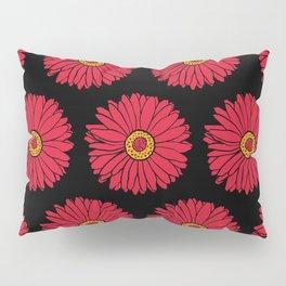 Red Gerbera Daisy Floral Print Pattern Pillow Sham