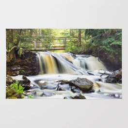 Upper Chapel Falls at Pictured Rocks National Lakeshore - Michigan Rug