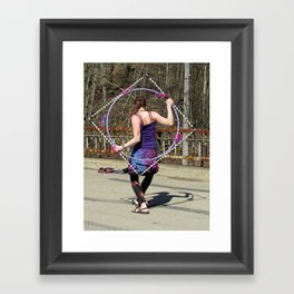 The Circle Inside the Square (Hula Hoop Series) Framed Art Print
