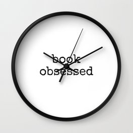 Book Obsessed typewriter vintage text Wall Clock