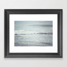 Silvery Sea Framed Art Print
