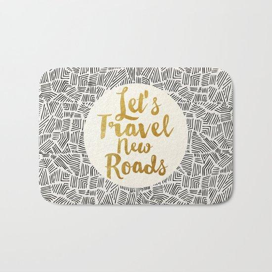Let's Travel New Roads Bath Mat