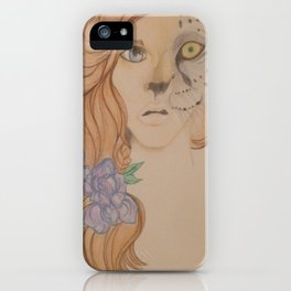 Leopard Girl iPhone Case