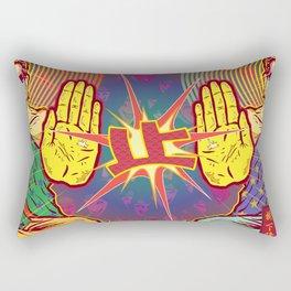 Life of Buddha - 6. Temptations Rectangular Pillow