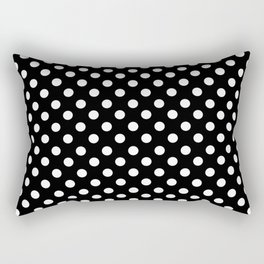 Black and White Polka Dot Pattern Rectangular Pillow