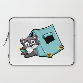 Camping Skunk Summer Camp Tent Lager Camper Gift Laptop Sleeve