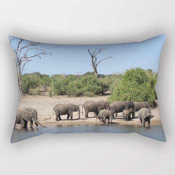 Elephant Safari Rectangular Pillow
