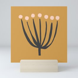 Spindly Seedlings | Ochre Mini Art Print