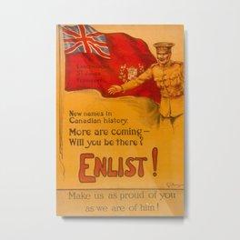 Vintage poster - Canadian Recruiting Metal Print