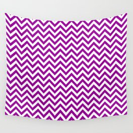 Red Violet Chevron - more colors Wall Tapestry