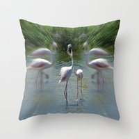 lovers Throw Pillows featuring Lovers by CrismanArt