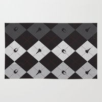 battlestar Area & Throw Rugs featuring Battlestargyle - BSG by Scott Brian Woods