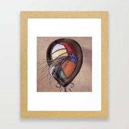 Color Festival — Vintage Hat Painting Framed Art Print