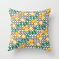 Citrus and Leaves II Throw Pillow