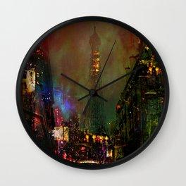 A night in Paris Wall Clock