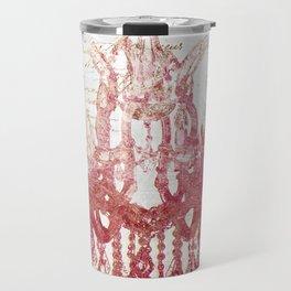 Blush Pink Chandelier Travel Mug
