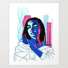 Blue Self Art Print