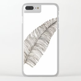 Tropical Leaf Clear iPhone Case