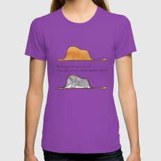 The Little Prince, a hat or a boa constrictor? Womens Fitted Tee Ultraviolet LARGE