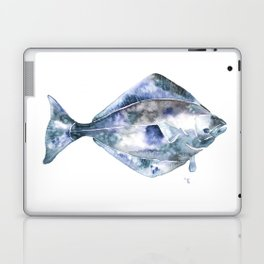 Flat Fish Watercolor Laptop & iPad Skin