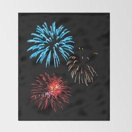 Patriotic Fireworks Throw Blanket