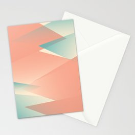 Pastel Peaks Stationery Cards