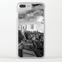 York Minster and walls in the sun Clear iPhone Case