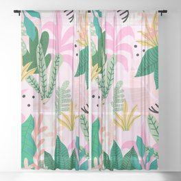 Into the jungle - sunup Sheer Curtain