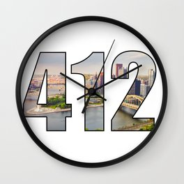 412 (Pittsburgh Area Code) Wall Clock