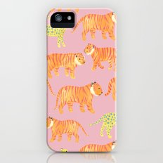 Pink Tigers Slim Case iPhone (5, 5s)