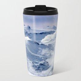 Snowy Mountains and Glaciers Metal Travel Mug
