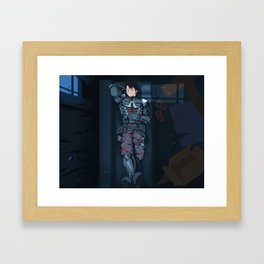 Sleeping Knight Framed Art Print