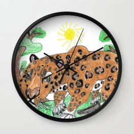 Indian Leopard Wall Clock