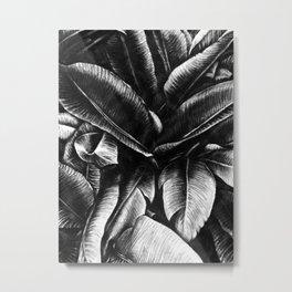 Dark Palm Leaves Metal Print