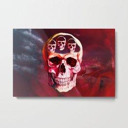 Funny Skull Metal Print