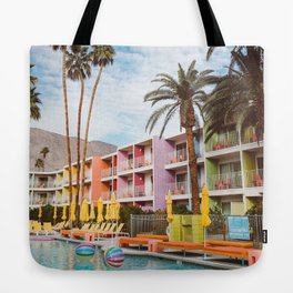 Palm Springs Pool Day VII Tote Bag