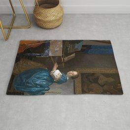 Johannes Vermeer - Zittende Klavecimbelspeelster Rug
