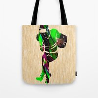 football Tote Bags featuring Football by marvinblaine