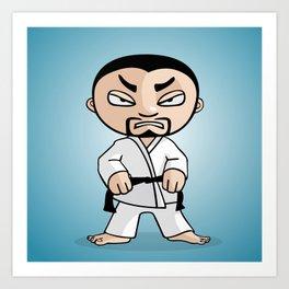 Karate man Art Print