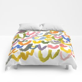 Abstract Letterforms 1 Comforters