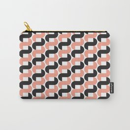 Geometric Pattern #184 (pink black knots) Carry-All Pouch