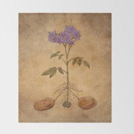 Anatomy of a Potato Plant Throw Blanket