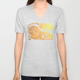 Golden two-headed dragon Unisex V-Neck