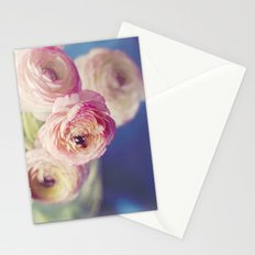 Ranunculus In Blue Stationery Cards