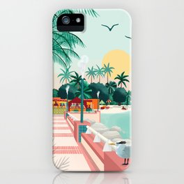 Sainte-Anne Guadeloupe Travel Poster iPhone Case