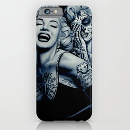 Marilyn with tattoos iPhone Case