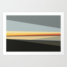 Evening Santa Monica Art Print