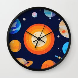 Planets Series Poster Wall Clock
