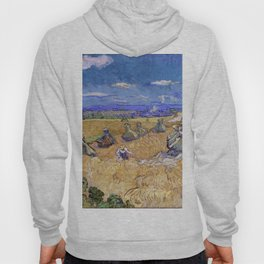 """Vincent van Gogh """"Wheat Stacks with Reaper"""" Hoody"""
