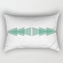 Marble Scandinavian Design Geometric Triangle Rectangular Pillow